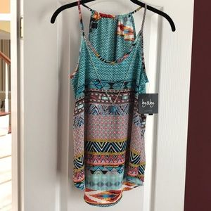 By&By Flowy Embellished Tank Beachwear